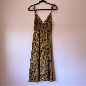 Akaiv Dresses - Akaiv Leopard Print Midi Dress